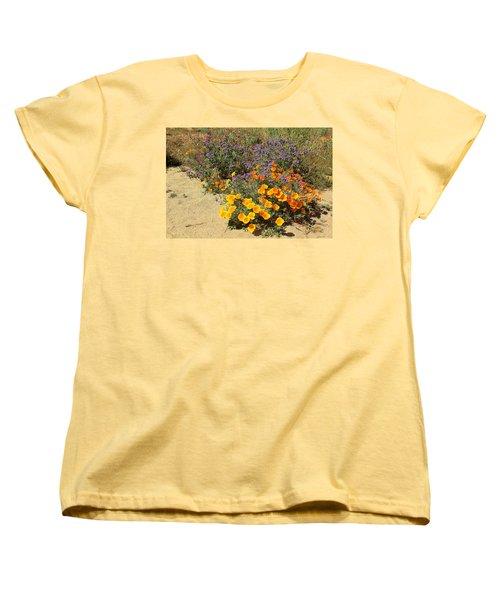 Wildflowers In Spring Women's T-Shirt (Standard Cut) by Viktor Savchenko