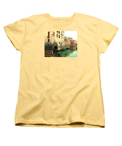 Winding Through The Watery Streets Of Venice Women's T-Shirt (Standard Cut) by Barbie Corbett-Newmin