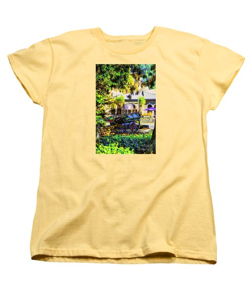 Women's T-Shirt (Standard Cut) featuring the photograph Wine Wagon by Rick Bragan