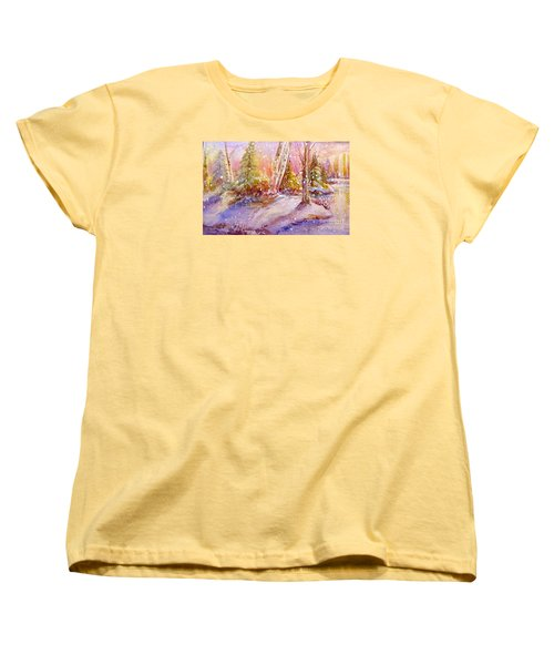 Winter Forest  Women's T-Shirt (Standard Cut) by Patricia Schneider Mitchell