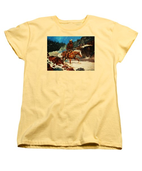 Women's T-Shirt (Standard Cut) featuring the painting Winter Trek by Al Brown