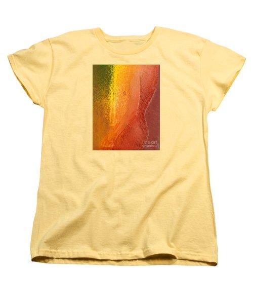 Women's T-Shirt (Standard Cut) featuring the digital art Woman In Window Light by Haleh Mahbod