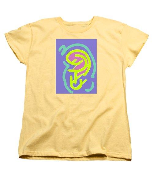 Women's T-Shirt (Standard Cut) featuring the digital art Womb Baby Alive by Carolina Liechtenstein