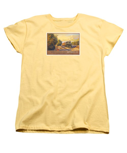 Wonderful California Women's T-Shirt (Standard Cut) by Nostalgic Prints