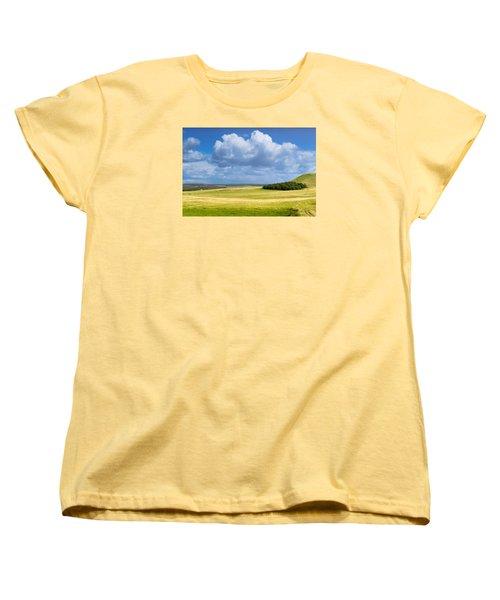 Wood Copse On A Hill Women's T-Shirt (Standard Cut) by John Williams
