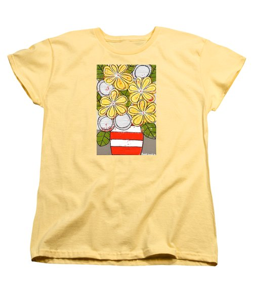 Yellow And White Flowers Women's T-Shirt (Standard Cut)