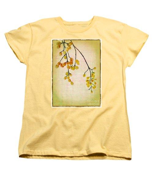 Yellow Berries Women's T-Shirt (Standard Cut) by Judi Bagwell