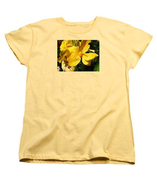 Women's T-Shirt (Standard Cut) featuring the photograph Yellow Canna Lily by Shawna Rowe