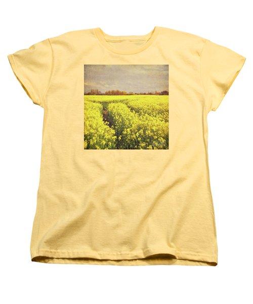 Yellow Field Women's T-Shirt (Standard Cut) by Lyn Randle