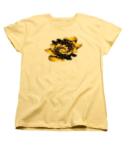 Yellow Flower Women's T-Shirt (Standard Cut) by Anastasiya Malakhova