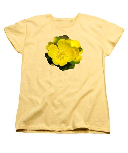 Yellow Flowers - Evening Primrose Women's T-Shirt (Standard Cut) by Christina Rollo