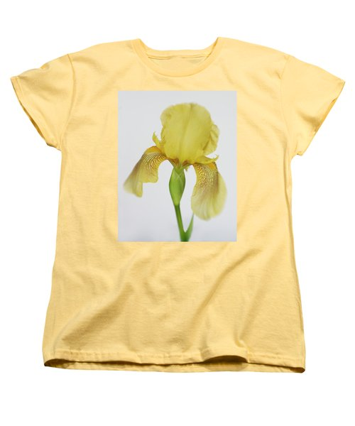 Women's T-Shirt (Standard Cut) featuring the photograph Yellow Iris A Symbol Of Passion by David and Carol Kelly