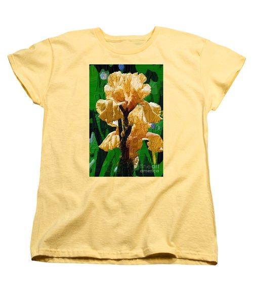Yellow Iris Women's T-Shirt (Standard Cut) by Diane E Berry