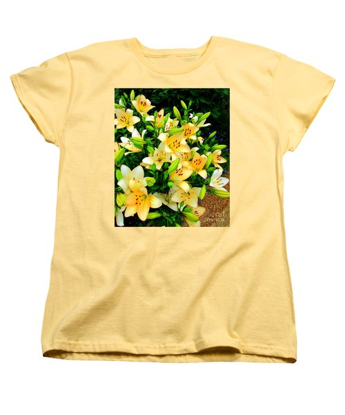 Women's T-Shirt (Standard Cut) featuring the photograph Yellow Lilies 2 by Randall Weidner