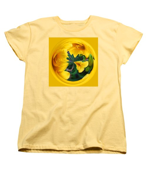 Women's T-Shirt (Standard Cut) featuring the photograph Yellow Lily Orb by Bill Barber