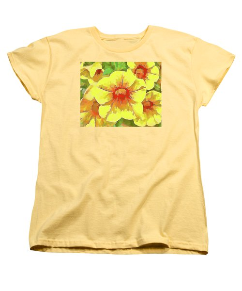Yellow Million Bells Women's T-Shirt (Standard Cut)
