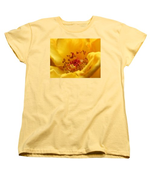 Yellow Mini Macro Women's T-Shirt (Standard Cut) by Marna Edwards Flavell