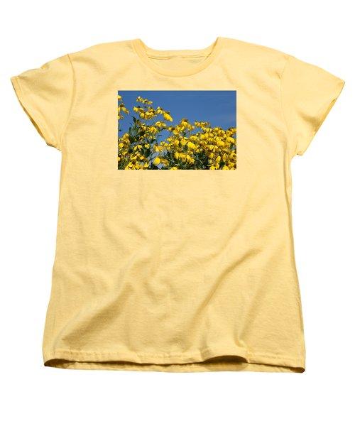 Yellow On Blue Women's T-Shirt (Standard Cut)