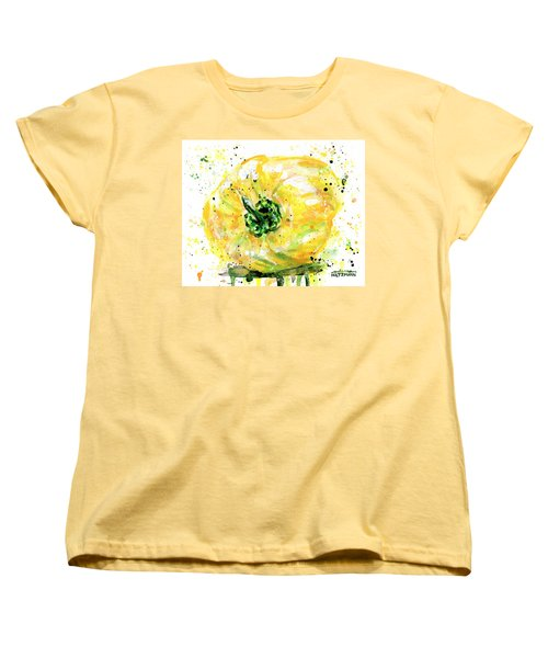 Yellow Pepper Women's T-Shirt (Standard Cut) by Arleana Holtzmann