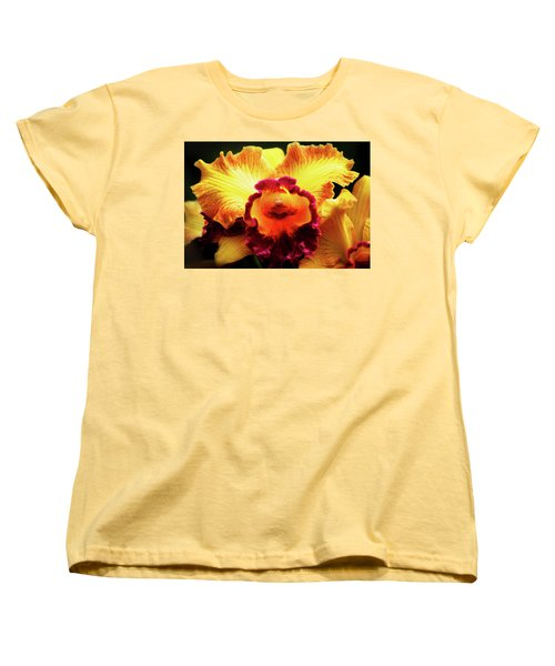Women's T-Shirt (Standard Cut) featuring the photograph Yellow-purple Orchid by Anthony Jones