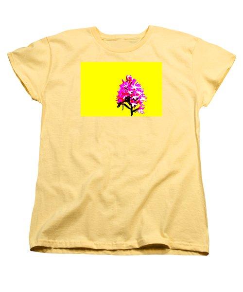 Yellow Pyramid Orchid Women's T-Shirt (Standard Cut) by Richard Patmore