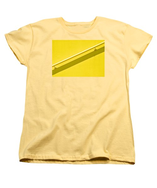 Yellow Rail Women's T-Shirt (Standard Cut) by Josephine Buschman