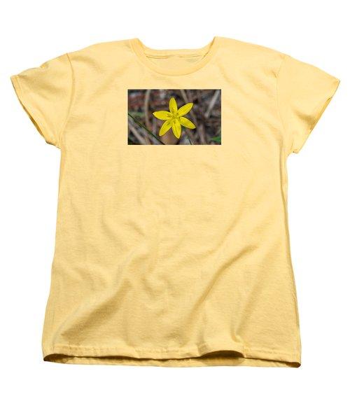 Yellow Star Grass Flower Women's T-Shirt (Standard Cut) by Kenneth Albin