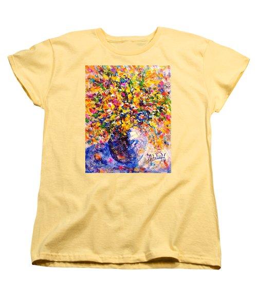 Yellow Sunshine Women's T-Shirt (Standard Cut) by Natalie Holland