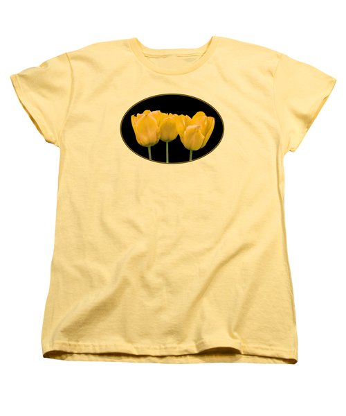 Yellow Tulip Triple Women's T-Shirt (Standard Fit)