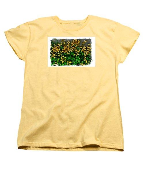 Yellow Wildflowers Women's T-Shirt (Standard Cut) by Marsha Heiken