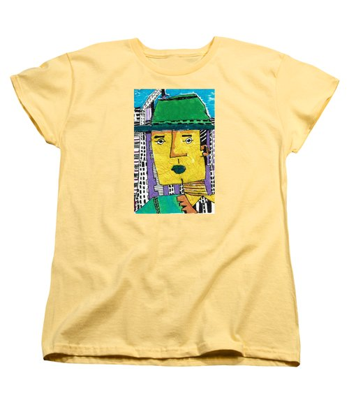 Women's T-Shirt (Standard Cut) featuring the tapestry - textile Yellowman by Don Koester