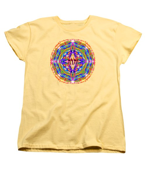 Yhwh Mandala 3 18 17 Women's T-Shirt (Standard Cut) by Hidden Mountain