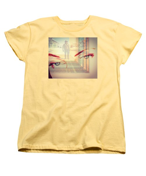 Your Eyes Only Women's T-Shirt (Standard Cut) by Theresa Marie Johnson