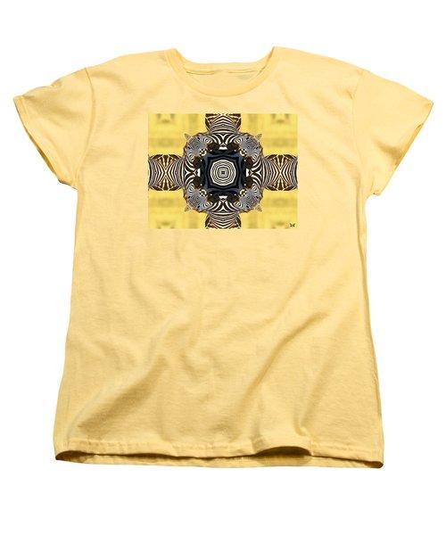 Zebra Cross Women's T-Shirt (Standard Cut) by Maria Watt