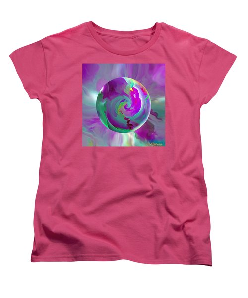 Women's T-Shirt (Standard Cut) featuring the painting   Perpetual Morning Glory by Robin Moline
