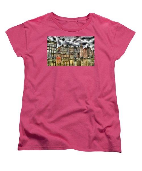 Amsterdam Water Canals Women's T-Shirt (Standard Cut) by Georgi Dimitrov