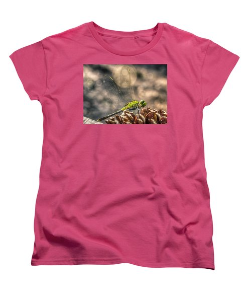 Women's T-Shirt (Standard Cut) featuring the photograph  Erythemis Simplicicollis by Rob Sellers