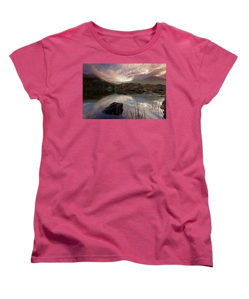 Llyn Ogwen Sunset Women's T-Shirt (Standard Cut) by Beverly Cash