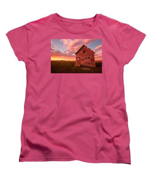 Women's T-Shirt (Standard Cut) featuring the photograph  No Trespassing by Ronda Kimbrow