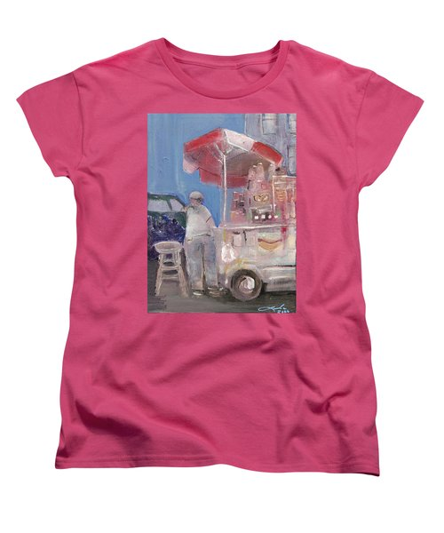 Stand On The Corner Women's T-Shirt (Standard Cut) by Leela Payne