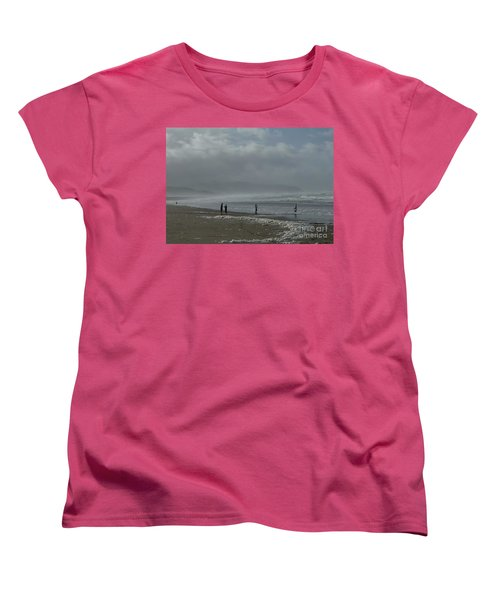 Women's T-Shirt (Standard Cut) featuring the photograph  Wave Handstand  by Susan Garren