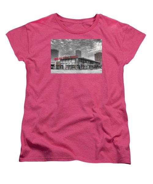 0038 Milwaukee Public Market Women's T-Shirt (Standard Cut) by Steve Sturgill