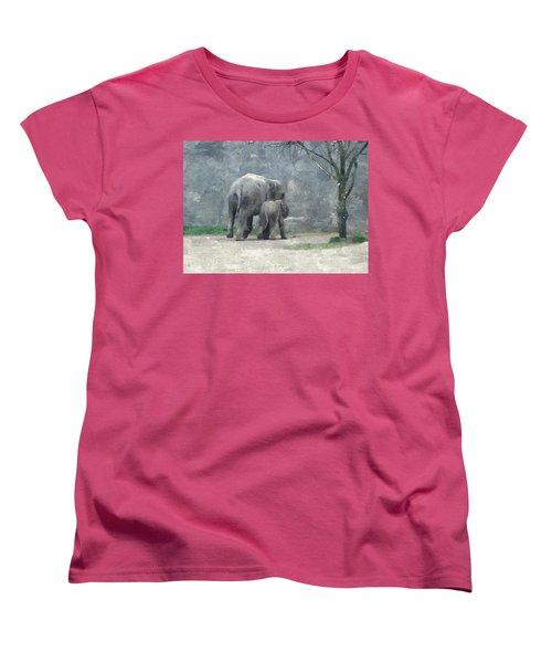 A Mothers Love Women's T-Shirt (Standard Cut) by Sara  Raber