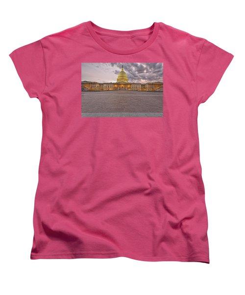Women's T-Shirt (Standard Cut) featuring the photograph Capitol Building by Peter Lakomy