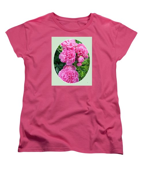 Country Peonies Women's T-Shirt (Standard Cut) by Will Borden