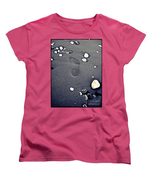 Women's T-Shirt (Standard Cut) featuring the photograph Footprint by Nina Ficur Feenan
