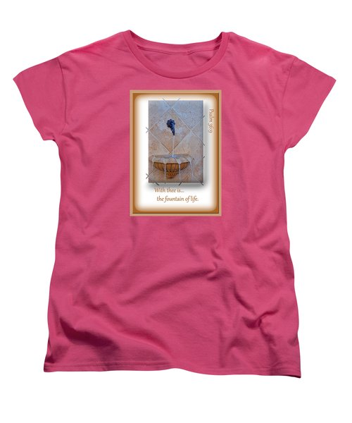 Women's T-Shirt (Standard Cut) featuring the photograph Fountain Of Life by Larry Bishop