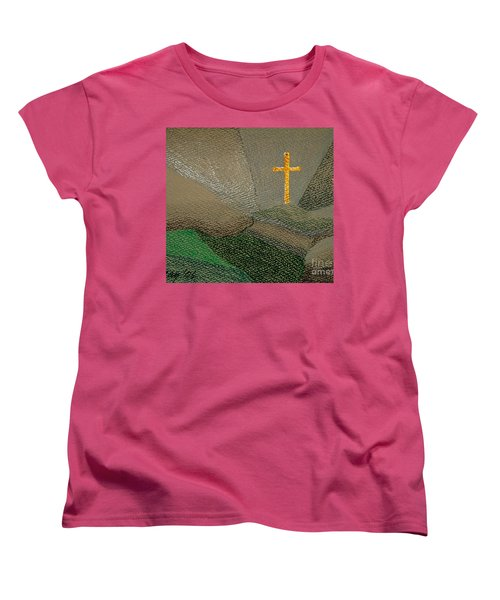 Women's T-Shirt (Standard Cut) featuring the drawing Depression And The Saviour by Rod Ismay