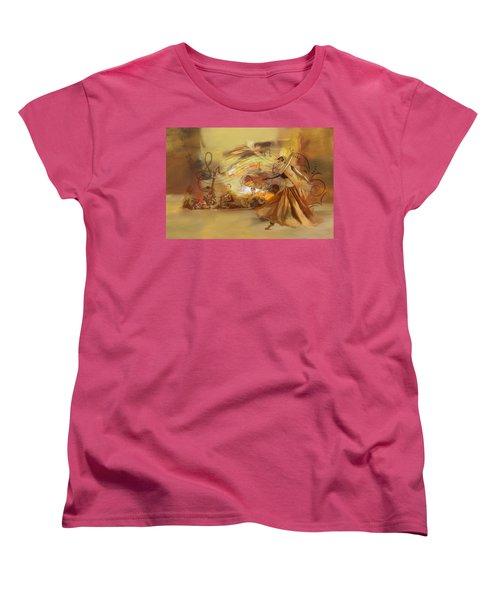 Kathak Dancer 4 Women's T-Shirt (Standard Cut) by Catf