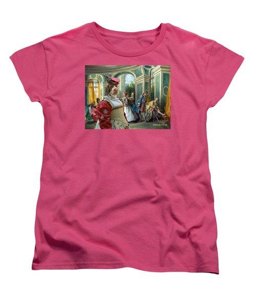 Korthals Pointing Griffon Art Canvas Print  Women's T-Shirt (Standard Cut) by Sandra Sij